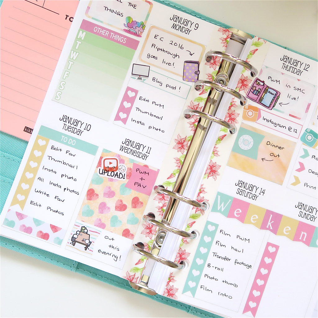 Plan With Me January 2017 – Kikki K /w Sew Much Crafting Inserts